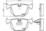 Zestaw klocków hamulcowych, hamulce tarczowe HELLA  8DB 355 006-691-Foto 2
