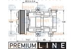 Kompresor klimatyzacji HELLA 8FK 351 113-391 HELLA 8FK351113-391