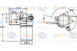 Osuszacz klimatyzacji HELLA 8FT351192391