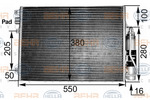 Chłodnica klimatyzacji - skraplacz HELLA 8FC351300491