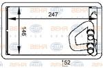 Nagrzewnica ogrzewania kabiny HELLA 8FH351333-091