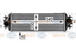 Chłodnica powietrza doładowującego - intercooler HELLA 8ML 376 700-111 HELLA 8ML376700-111