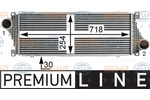 Chłodnica powietrza doładowującego - intercooler HELLA 8ML 376 700-621 HELLA 8ML376700-621