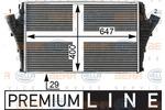 Chłodnica powietrza doładowującego - intercooler HELLA 8ML 376 700-721 HELLA 8ML376700-721