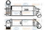 Chłodnica powietrza doładowującego - intercooler HELLA 8ML 376 700-744 HELLA 8ML376700-744