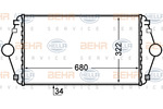 Chłodnica powietrza doładowującego - intercooler HELLA 8ML 376 727-641 HELLA 8ML376727-641