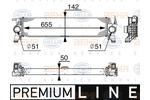 Chłodnica powietrza doładowującego - intercooler HELLA  8ML 376 745-511