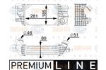 Chłodnica powietrza doładowującego - intercooler HELLA 8ML 376 745-541 HELLA 8ML376745-541
