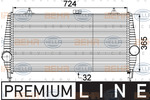 Chłodnica powietrza doładowującego - intercooler HELLA 8ML 376 746-231 HELLA 8ML376746-231