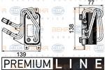 Chłodnica oleju silnikowego HELLA 8MO 376 747-101 HELLA 8MO376747-101