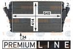 Chłodnica powietrza doładowującego - intercooler HELLA 8ML 376 760-611 HELLA 8ML376760-611