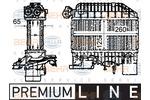 Chłodnica powietrza doładowującego - intercooler HELLA  8ML 376 760-651