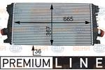 Chłodnica powietrza doładowującego - intercooler HELLA 8ML 376 777-281 HELLA 8ML376777-281
