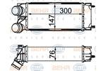 Chłodnica powietrza doładowującego - intercooler HELLA 8ML 376 777-364 HELLA 8ML376777-364