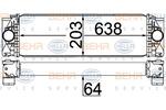 Chłodnica powietrza doładowującego - intercooler HELLA 8ML 376 777-404 HELLA 8ML376777-404