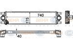 Chłodnica powietrza doładowującego - intercooler HELLA 8ML 376 899-011 HELLA 8ML376899-011