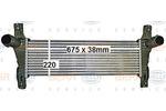Chłodnica powietrza doładowującego - intercooler HELLA 8ML 376 900-601 HELLA 8ML376900-601