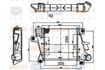 Chłodnica powietrza doładowującego - intercooler HELLA 8ML 376 988-334 HELLA 8ML376988-334