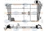 Chłodnica powietrza doładowującego - intercooler HELLA 8ML 376 988-394 HELLA 8ML376988-394