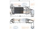Chłodnica powietrza doładowującego - intercooler HELLA 8ML 376 988-404 HELLA 8ML376988-404