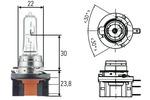 Żarówka światła postojowego - pozycyjnego HELLA 8GJ 168 119-001 HELLA 8GJ168119-001