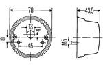 Lampa kierunkowskazu HELLA  2BE 001 259-061 (Z lewej) (Z prawej)-Foto 2