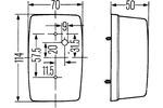 Lampa kierunkowskazu HELLA 2BA 002 324-021 HELLA  2BA 002 324-021 (Z prawej) (Boczna oprawa) (Z przodu)-Foto 2