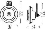 Sygnał dźwiękowy - klakson HELLA  3AL 006 958-807-Foto 2