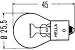 Żarówka P21W Hella Standard BA15s 12V 21W-Foto 3