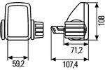 Reflektor dalekosiężny HELLA 1FM 008 333-001 HELLA  1FM 008 333-001 (Z lewej) (Z prawej)-Foto 2