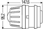 Reflektor dalekosiężny HELLA 1KL 009 486-001 HELLA  1KL 009 486-001 (Z lewej) (Z prawej) (Z przodu)-Foto 2
