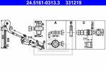 Przewód hamulcowy elastyczny ATE 24516103133