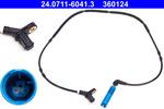 Czujnik prędkości obrotowej koła (ABS lub ESP) ATE 24.0711-6041.3