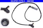 Czujnik prędkości obrotowej koła (ABS lub ESP) ATE 24.0751-1179.3
