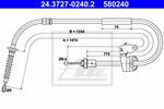 Linka hamulca postojowego ATE 24.3727-0240.2 ATE 24.3727-0240.2