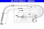 Linka hamulca postojowego ATE 24.3727-0243.2 ATE 24.3727-0243.2