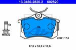 Klocki hamulcowe - komplet ATE  13.0460-2820.2-Foto 2