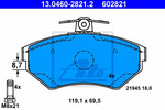 Klocki hamulcowe - komplet ATE 13.0460-2821.2