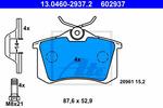 Klocki hamulcowe - komplet ATE 13.0460-2937.2 ATE 13.0460-2937.2