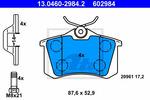 Klocki hamulcowe - komplet ATE 13.0460-2984.2 ATE 13.0460-2984.2