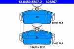 Klocki hamulcowe - komplet ATE 13046058072