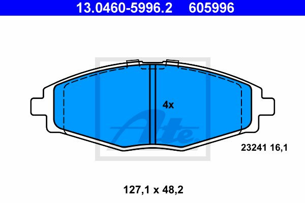 Klocki hamulcowe - komplet ATE (13.0460-5996.2)