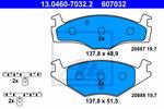 Klocki hamulcowe - komplet ATE 13.0460-7032.2 ATE 13.0460-7032.2