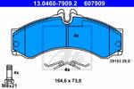 Klocki hamulcowe - komplet ATE  13.0460-7909.2