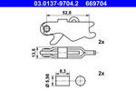 Zestaw montażowy szczęk hamulcowych hamulca postojowego ATE 03.0137-9704.2 ATE 03.0137-9704.2