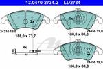Klocki hamulcowe - komplet ATE 13.0470-2734.2 ATE 13.0470-2734.2