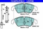 Klocki hamulcowe - komplet ATE ATE Ceramic 13.0470-2746.2
