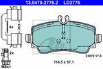 Klocki hamulcowe - komplet ATE ATE Ceramic 13.0470-2776.2