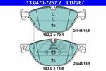 Klocki hamulcowe - komplet ATE ATE Ceramic 13.0470-7267.2
