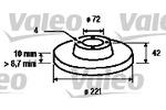 Tarcza hamulcowa VALEO  186160 (Oś przednia)